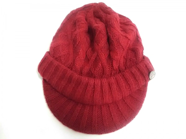 CA4LA(カシラ) ニット帽美品  ボルドー ウール×アクリル×アルパカ