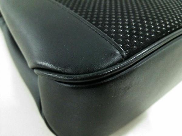 印傳屋(インデンヤ) ハンドバッグ 黒 ヌバック×漆×レザー