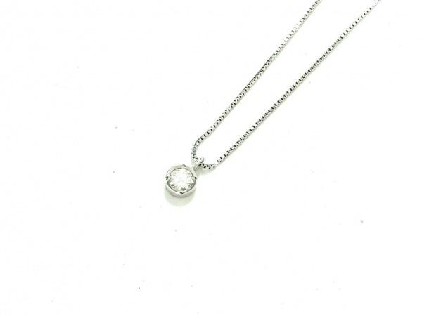 ノーブランド ネックレス美品  Pt850×Pt900×ダイヤモンド クリア