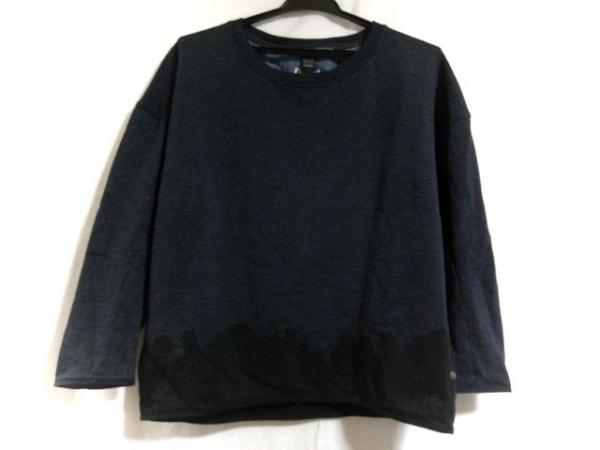 ジースターロゥ 長袖カットソー サイズXS レディース美品  ダークグレー×黒