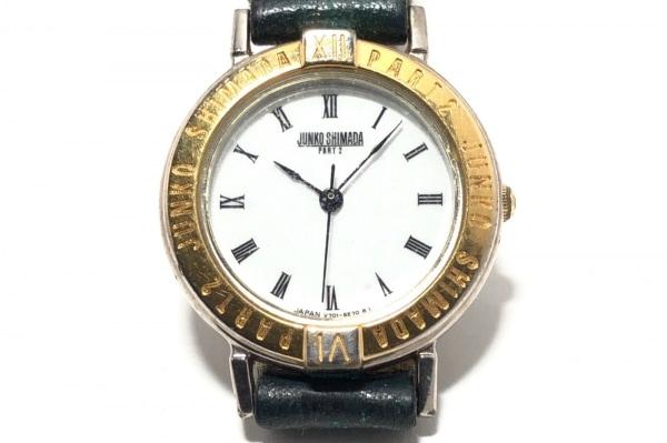 JUNKO SHIMADA(ジュンコシマダ) 腕時計 V701-6C10 レディース 革ベルト 白