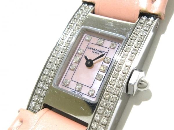 CHAUMET(ショーメ) 腕時計 スタイルレクタングル W012120 レディース シェルピンク