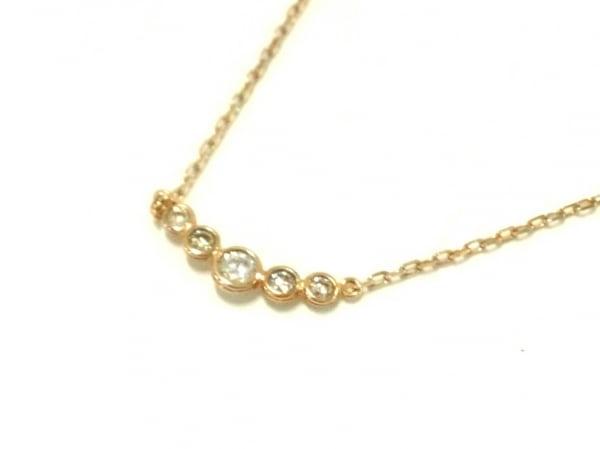 cocoshnik(ココシュニック) ネックレス美品  K10×ダイヤモンド 5Pダイヤ