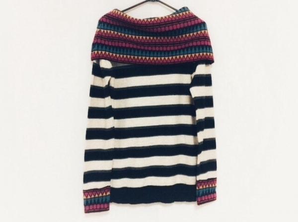 デシグアル 長袖セーター サイズM レディース ベージュ×黒×マルチ ボーダー