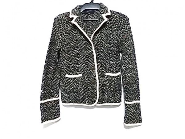 マカフィ ジャケット サイズ38 M レディース 黒×アイボリー×マルチ 春・秋物