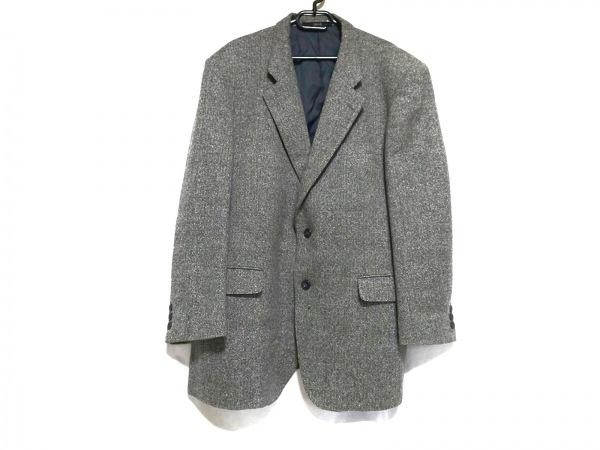 DAKS(ダックス) ジャケット メンズ ライトグレー×黒×マルチ 肩パッド/記名刺繍