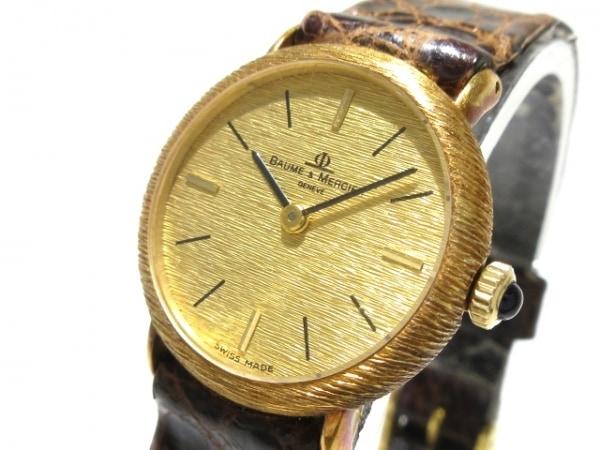 BAUME&MERCIER(ボーム&メルシエ) 腕時計 768218 レディース 革ベルト ゴールド