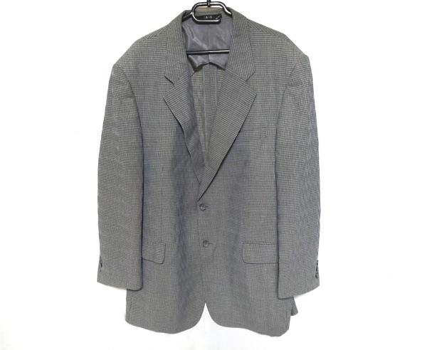 ダックス ジャケット メンズ ライトブルー×ブラウン×マルチ 肩パッド/記名刺繍