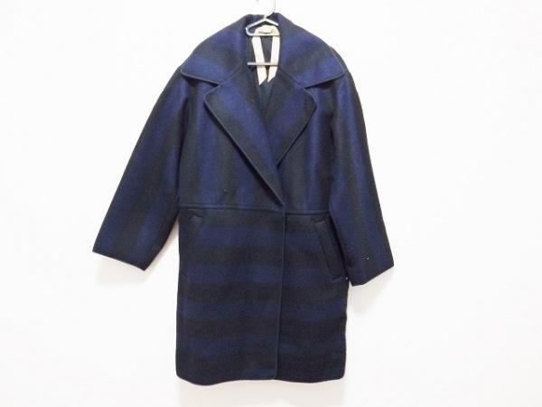 N゜21(ヌメロ ヴェントゥーノ) コート サイズ36 S レディース 黒×ダークネイビー