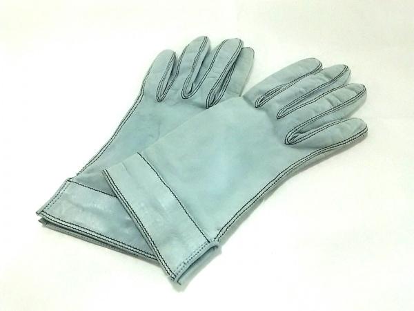 PIUMELLI(ピュメリ) 手袋 レディース ライトブルー レザー