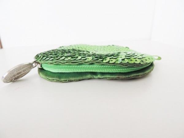 DKNY(ダナキャラン) コインケース グリーン リンゴ型 化学繊維×スパンコール