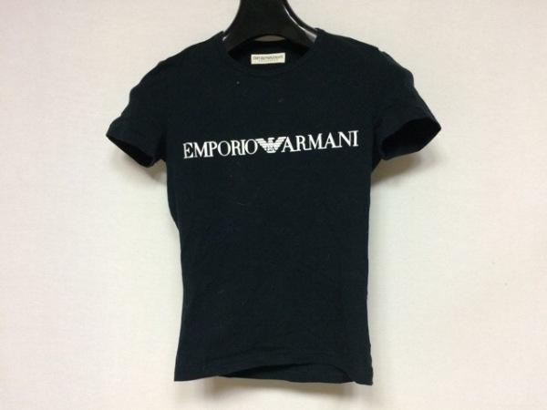 エンポリオアルマーニ アンダーウェア 半袖Tシャツ サイズM レディース美品  黒×白