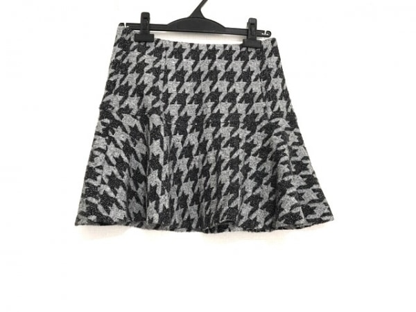 theory(セオリー) ミニスカート サイズ2 S レディース美品  ライトグレー×黒