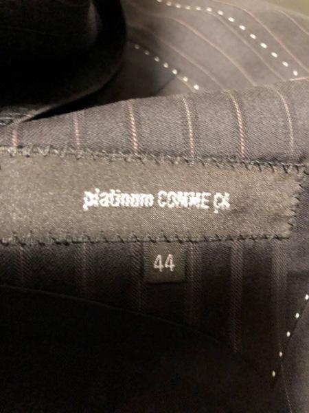 Platinum COMME CA(プラチナコムサ) シングルスーツ サイズ44 L メンズ 黒×ピンク
