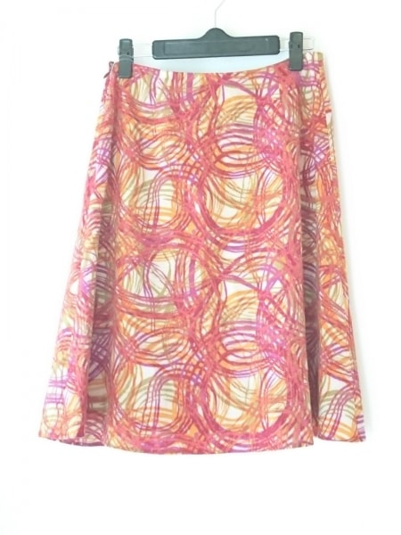 Sybilla(シビラ) スカート サイズM レディース ライトグレー×レッド×マルチ