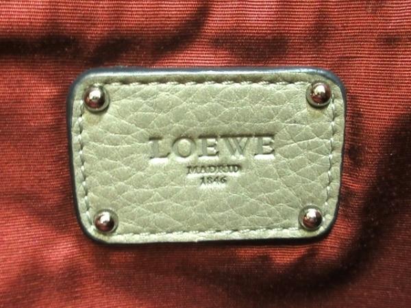 LOEWE(ロエベ) ハンドバッグ - カーキ レザー