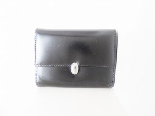 ChristianDior(クリスチャンディオール) 3つ折り財布 - 黒 レザー
