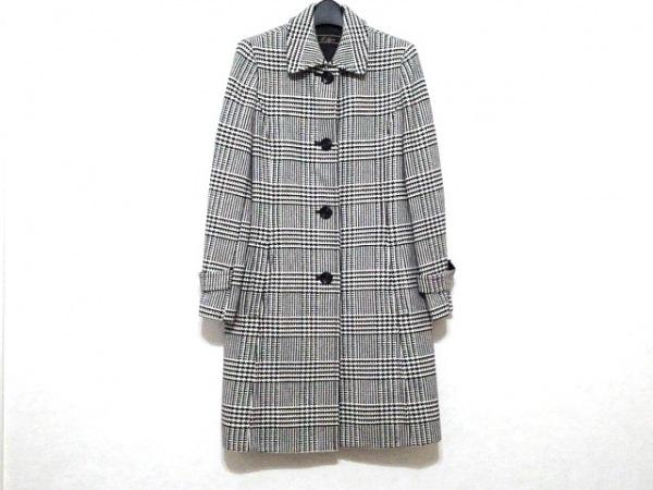 Leilian(レリアン) コート サイズ9 M レディース美品  アイボリー×黒 冬物