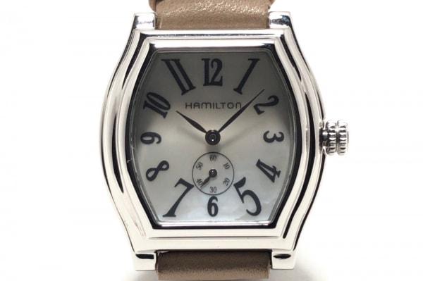 HAMILTON(ハミルトン) 腕時計 051110 レディース 革ベルト/シェル文字盤 白