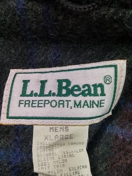 L.L.Bean(エルエルビーン) ブルゾン サイズXL メンズ レッド ジップアップ/冬物