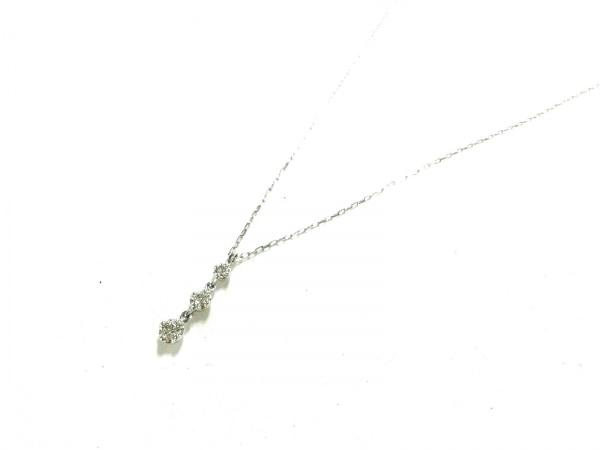 4℃(ヨンドシー) ネックレス新品同様  111231123205 K18WG×ダイヤモンド 3Pダイヤ