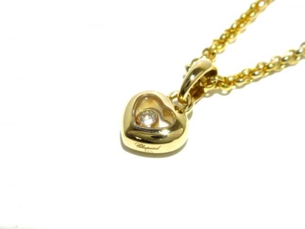 Chopard(ショパール) ネックレス新品同様  ハッピーダイヤ K18YG×ダイヤモンド