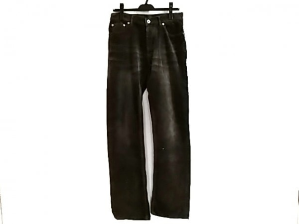 バーバリーブラックレーベル パンツ サイズ76 メンズ ダークグレー コーデュロイ
