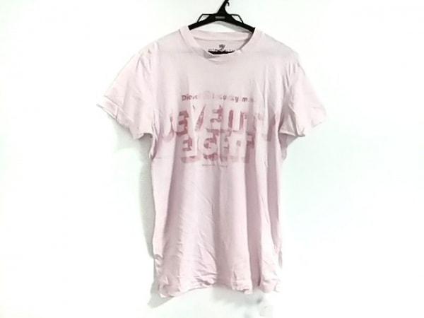 DIESEL(ディーゼル) 半袖Tシャツ サイズS メンズ ピンク ラメ