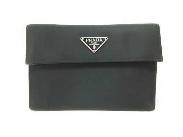 PRADA(プラダ) 3つ折り財布美品  - M510 黒 ナイロン