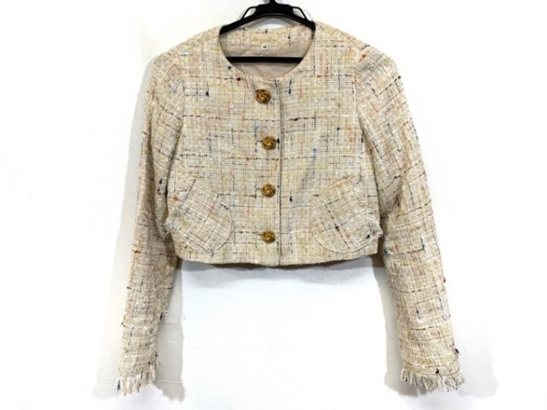 ハニーミーハニー ジャケット サイズ38 M レディース ベージュ×オレンジ×マルチ