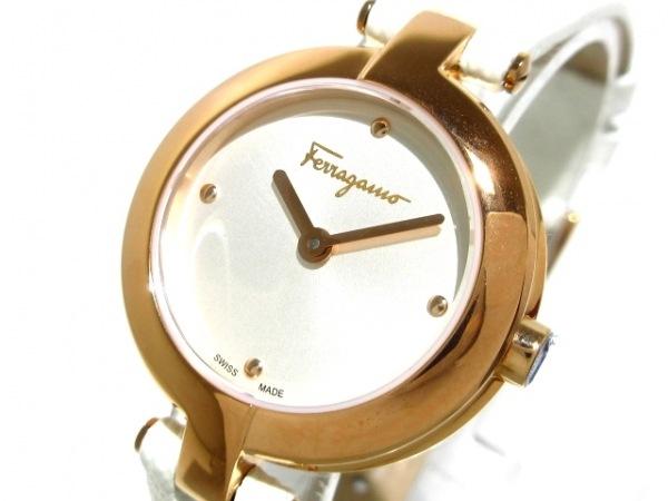 SalvatoreFerragamo(フェラガモ) 腕時計新品同様  - レディース 革ベルト シルバー