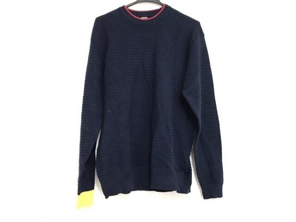 DIESEL(ディーゼル) 長袖セーター サイズM メンズ美品  ネイビー×レッド×イエロー