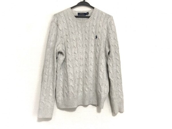 POLObyRalphLauren(ポロラルフローレン) 長袖セーター サイズS メンズ美品  グレー