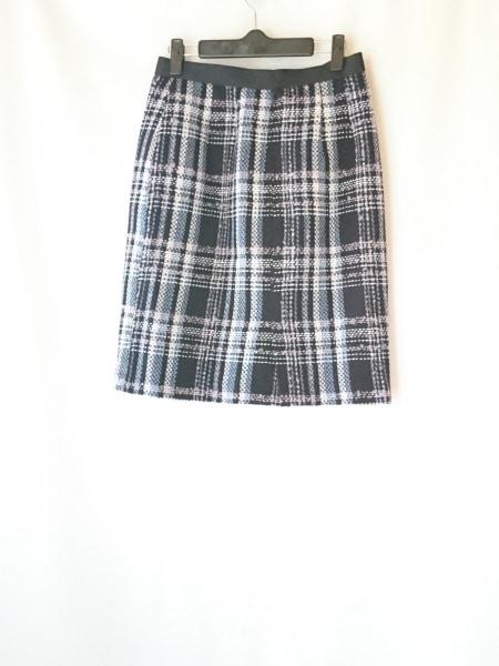 ジャスグリッティー スカート サイズ2 M レディース 黒×白×マルチ チェック柄