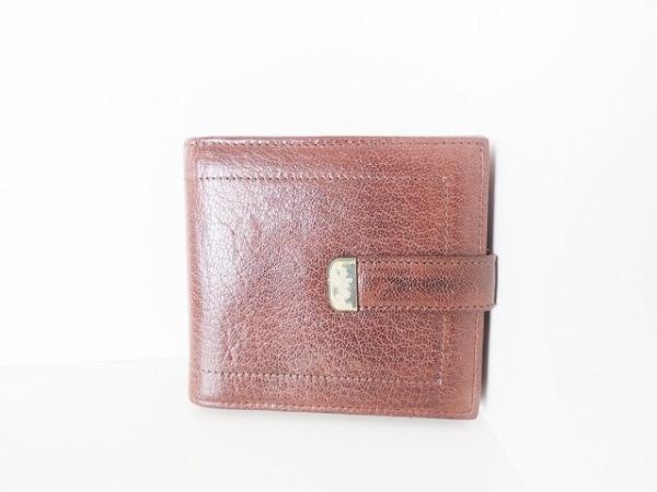 genten(ゲンテン) Wホック財布 ダークブラウン レザー