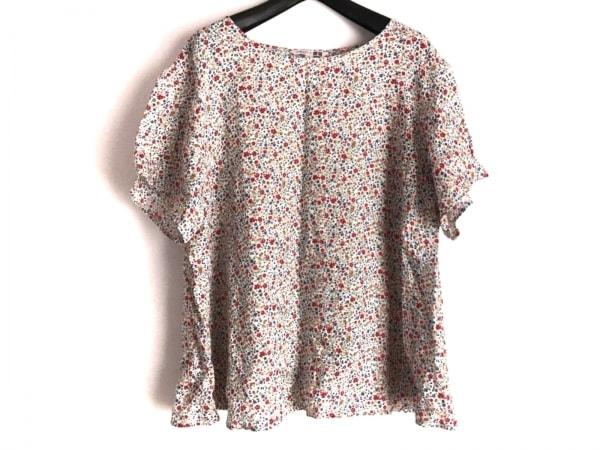 LIBERTY(リバティ) 半袖カットソー サイズXL レディース美品  白×レッド×マルチ