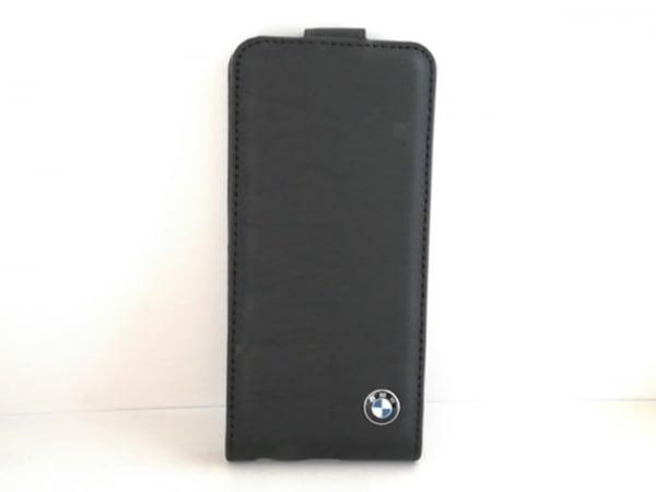 BMW(ビーエムダブリュ) 携帯電話ケース 黒 iPhoneケース 合皮