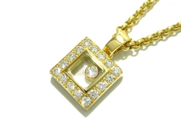 Chopard(ショパール) ネックレス新品同様  ハッピーダイヤモンドスクエア 79/2896-20