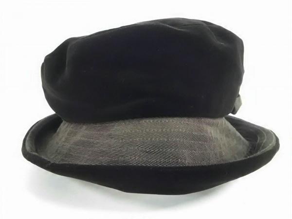 VOGUE(ヴォーグ) 帽子美品  ダークブラウン リボン ベロア