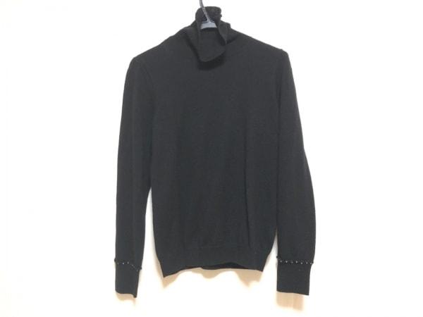 インゲボルグ 長袖セーター サイズ11 M レディース 黒 タートルネック/ビーズ