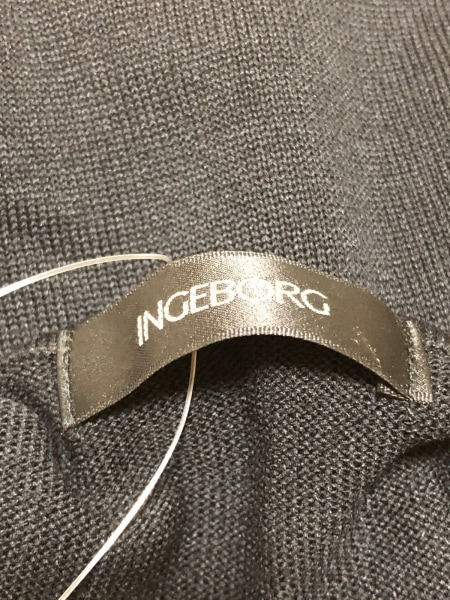 INGEBORG(インゲボルグ) カーディガン サイズ9 M レディース 黒 スパンコール