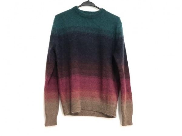 ポールスミス 長袖セーター サイズMEDIUM M メンズ美品  グリーン×ネイビー×マルチ