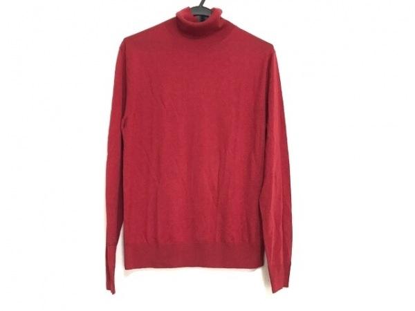 ポールスミス 長袖セーター サイズMEDIUM M メンズ美品  レッド×ネイビー×マルチ