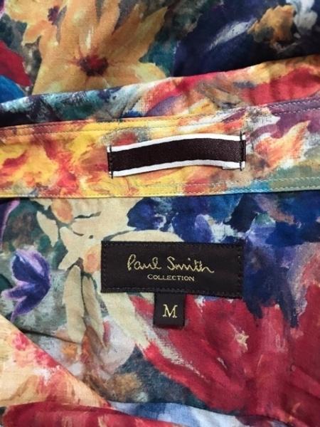 ポールスミス 長袖シャツ サイズM メンズ美品  ネイビー×レッド×マルチ COLLECTION