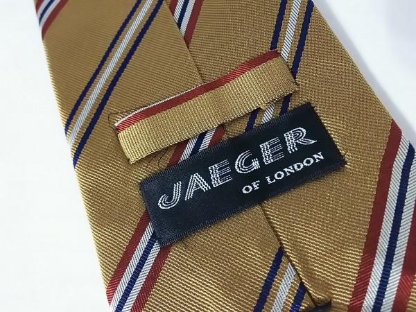 JAGUAR(ジャガー) ネクタイ メンズ ブラウン×ダークネイビー×マルチ 斜めストライプ