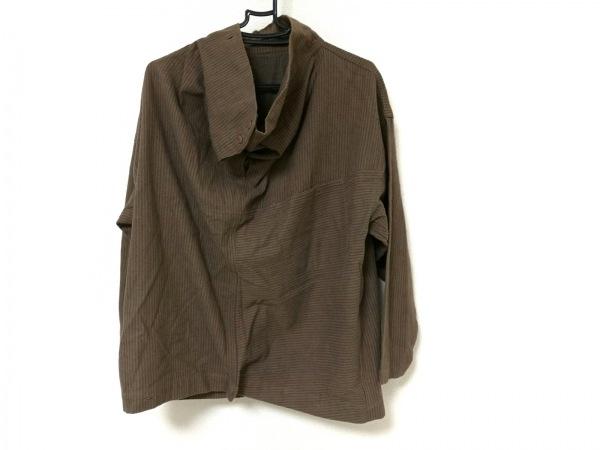 ISSEYMIYAKE(イッセイミヤケ) 長袖セーター メンズ ブラウン×グレー