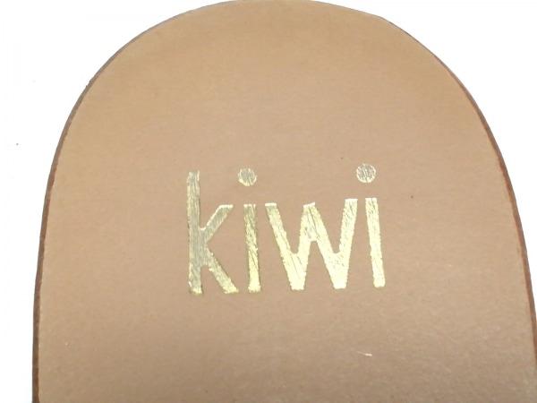kiwi(キウィ) サンダル 35 レディース ベージュ×マルチ アウトソール張替済