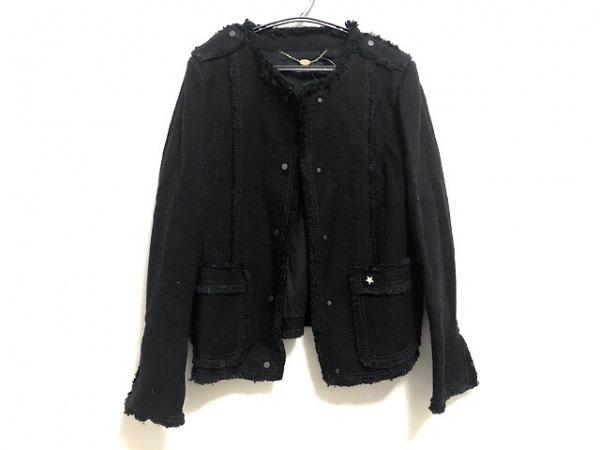 MACPHEE(マカフィ) ジャケット レディース美品  黒 ラインストーン/スター