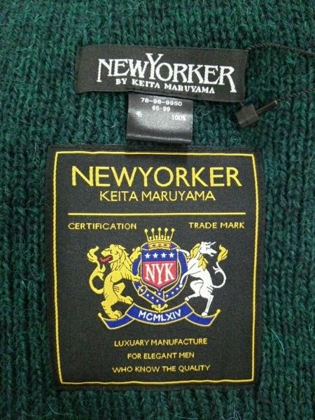 NEW YORKER(ニューヨーカー) マフラー美品  ダークグリーン ウール