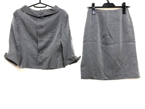 エムズグレイシー スカートスーツ サイズ9 M レディース美品  黒×白 肩パッド